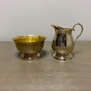 Vintage Sterling by Poole Sugar + Creamer